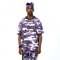 플라잉 나인티(FLYING NINETY) FNTY Multi Camo Oversize T-shirt PURPLE