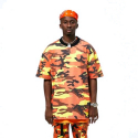 플라잉 나인티(FLYING NINETY) FNTY Multi Camo Oversize T-shirt ORANGE