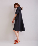 Black Cotton Shirts Dress