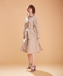 어헤이트() Four Pocket Shirt Dress with Belt