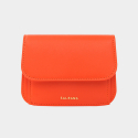 살랑(SALRANG) Dijon 301R Round Card Wallet coral orange