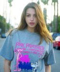 아임낫어휴먼비잉(I AM NOT A HUMAN BEING) HBXPP Pink Panther And White Man T-Shirt - Grey