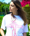 HBXPP Pink Panther Leaning Against Our Logo T-Shirt - White