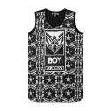 보이런던(BOYLONDON) B72OP05F89 (Black/White)
