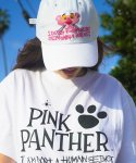 아임낫어휴먼비잉(I AM NOT A HUMAN BEING) HBXPP Pink Panther Face Ball Cap - White