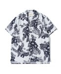제로() Flower n Leaf Hawaiian Shirts (White)