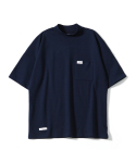 제로() Oversize Mock Neck T-Shirts (Navy)
