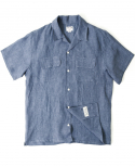 아웃스탠딩(OUTSTANDING) ORIGINAL LINEN SHIRTS [NAVY]