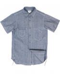 아웃스탠딩(OUTSTANDING) SELVEDGE CHAMBRAY WORK SHIRTS[INDIGO]