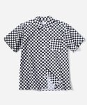 커버낫() S/S CHECKER SHIRTS BLACK
