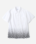 커버낫() S/S CHECKER SHIRTS WHITE