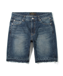 유니폼브릿지() damage washing deinm shorts indigo