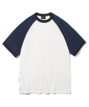 유니폼브릿지(UNIFORM BRIDGE) 10s heavyweight raglan short sleeve tee off white