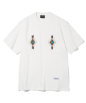 유니폼브릿지(UNIFORM BRIDGE) chimayo needle point tee off white