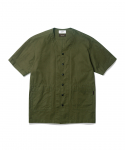 Corbin Neckless Shirt Olive