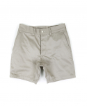아웃스탠딩(OUTSTANDING) MILITARY OFFICER CHINO SHORT PANTS[IVORY]