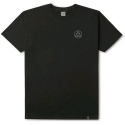 허프(HUF) HUF CIRCLE TRIPLE TRIANGLE TEE BLACK