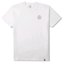 HUF CIRCLE TRIPLE TRIANGLE TEE WHITE