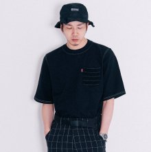 Stripe Pocket T-Shirt (Black)