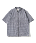 제로() Oversize Gingham Check Shirts (Black)