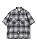 제로() Oversize Big Check Nap Shirts (Grey)