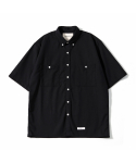 제로() Oversize Solid Linen Shirts (Black)