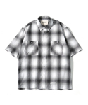 제로() Oversize Amunzen Check Shirts (Grey)