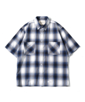제로() Oversize Amunzen Check Shirts (Blue)
