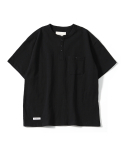 제로() Oversize Henry Neck T-Shirts (Black)