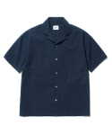 파르티멘토(PARTIMENTO) 4pocket Open Collar Shirts Navy