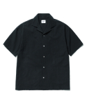 파르티멘토(PARTIMENTO) 4pocket Open Collar Shirts Black