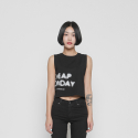 칩먼데이(CHEAP MONDAY) SHIELD TANK FUZZY LOGO W0311661 BLK