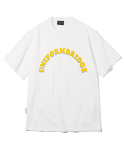 유니폼브릿지(UNIFORM BRIDGE) arch logo tee off white
