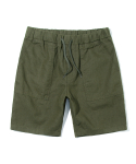 유니폼브릿지(UNIFORM BRIDGE) linen short pants khaki
