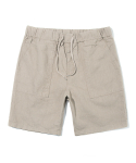 유니폼브릿지(UNIFORM BRIDGE) linen short pants beige