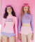 NO KEY RASHGUARD_PINK