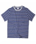 아웃스탠딩(OUTSTANDING) VARIUS BORDER TEE[COBALT/RED]
