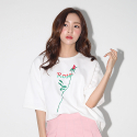 어라운드 80(AROUND 80) ROSE T-SHIRTS_WHITE