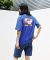 10`s Overfit coconut tree T-shirts Blue