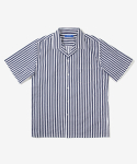 레이어 유니온(LAYER UNION) STRIPE OC S/S SHIRTS NAVY