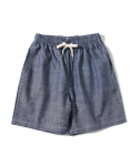 제로() Chambray Easy Shorts (Indigo)