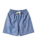 제로() Chambray Easy Shorts (Sky)