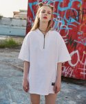 엠디엠에스 바이 매드마르스(MDMS By MADMARS) OVERSIZED ZIP-UP SHIRTS_WHITE