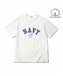 NAVY Anchor T-Shirt Off White