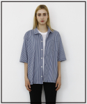 에프티에프클로징() (Unisex) oversize Open Collar Stripe Shirts