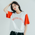 모티브스트릿(MOTIVESTREET) COLOR BLOCK SST WHITE RED