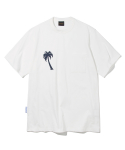 유니폼브릿지(UNIFORM BRIDGE) palm tree pocket tee off white