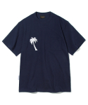 유니폼브릿지() palm tree pocket tee navy
