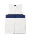 유니폼브릿지(UNIFORM BRIDGE) pocket line tank top off white