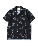 제로() Surfer Hawaiian Shirts (Black)